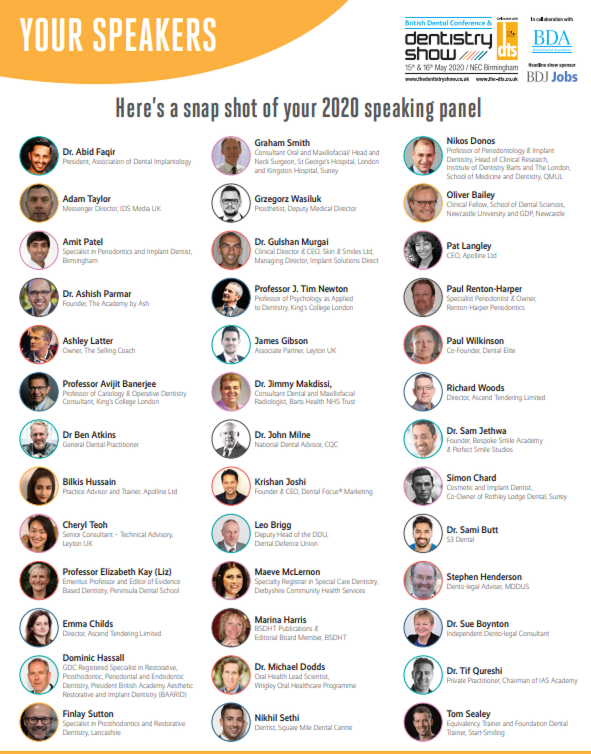 Confirmed Speakers for 2020 with more to be announced